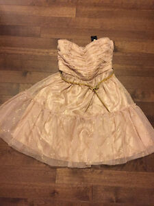 Brand New Champagne gold cocktail prom dress gown bridesmaid