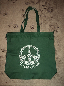 New St. Clair College Zip Tote in Green