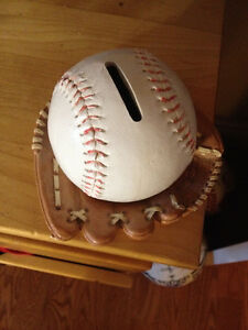 Baseball Glove Piggy Bank Peterborough Peterborough Area image 1