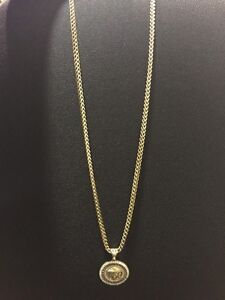 **NEW PRICE**10K Franco gold chain with medusa piece