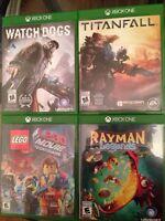 4 Jeux Xbox One pour 50$