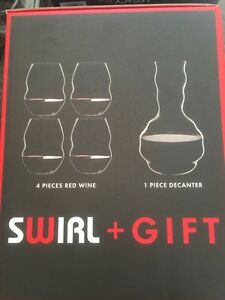 Riedel Decanter and Wine Glass Set -crystal