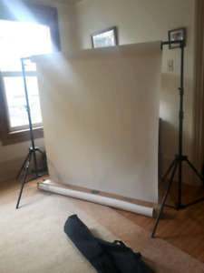 Photography backdrop kit.