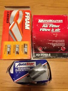 Set of three new car filters Air/Fuel Focus