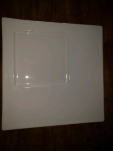 Large white appetizer plate
