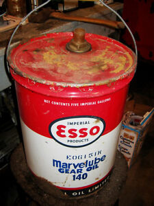 Esso Marvelube 5 Gallon Oil Pail Regina Regina Area image 3