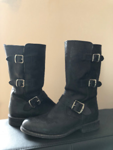 FRYE Women's Jayden Moto Cuff Boot - Worn twice!  Like New