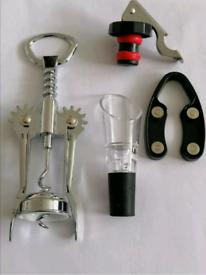 New Wing corkscrew Wine Aerator wine bottle foil cutter bottle stopper