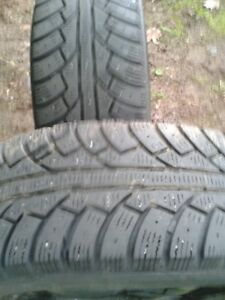 "A pair of 195/65/15""; Tires on rims,LOTS of tread"