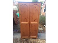 Lovely solid quality build pine wardrobe. Local Delivery
