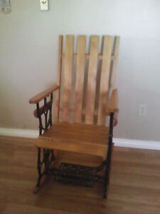Custom hand built rocking chair
