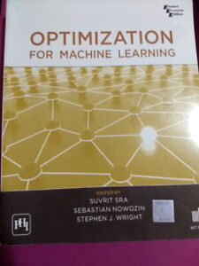 Optimization for Machine Learning by Suvrit Sra and Sebastian n
