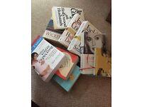 Selection of books - pregnancy, fiction etc