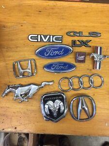 Assorted vehicle emblems