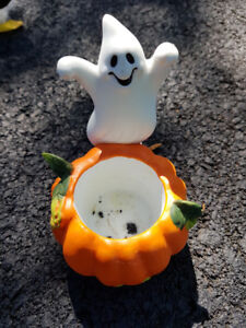 Party Lite Ghost and Pumpkin Votive/Tealight Candle Holder