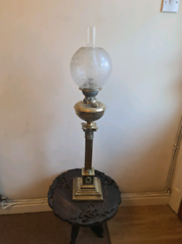 Very large oil lamp untouched