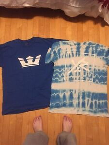 Men's SUPRA and YOUNG N RECKLESS shirts