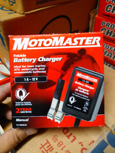 MOTOMASTER MOTO MASTER MOTORCYCLE BATTERY CHARGER 1 AMP