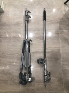 Kupo 320m roller stand + Manfrotto d600 boom arm