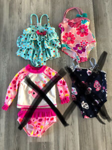 Excellent condition girls bathing suits size 0-6 months