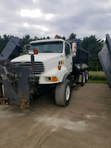 2001 STERLING DUMP TRUCK WITH SNOW PLOW AND SANDER