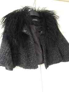 Max Mara Crop Jacket with removable faux fur collar small
