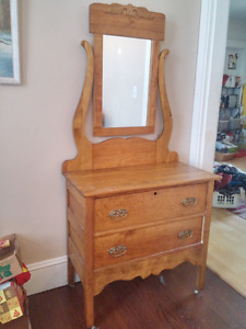 Moving - Antique Dresser with Mirror