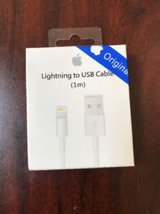 B/N  Apple USB 8 Pin Charger Cable for iPhone, iPad & iPod