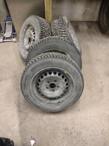Nokian hakkapeliitta 8 studded tires and rims 15""