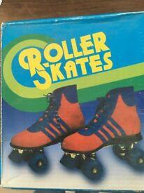 Retro roller skates (adult uk size 8)