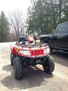 2012 Arctic Cat Trv 400 with plow