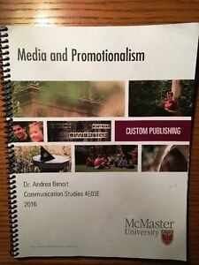 CMST 4E03 Media & Promotionalism Courseware