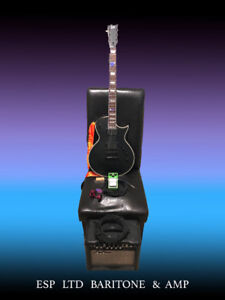 ESP, LTD, Baritone Electric Guitar w/Accessories, Amp & Pedal