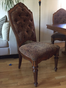 Beautiful Tufted Velvet Dinning Chairs- 8 Total