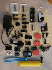GoPro Hero 3+ Black with tons of accessories