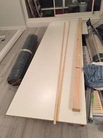 Primed White MDF skirting & white MDF board