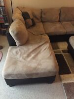 Sectional and ottoman for sale