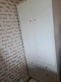 Two door three drawer wardrobe