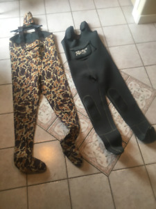 2 Pair Chest Wadders