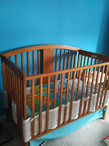 Very gently used crib + accessories