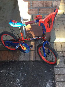 16in Spider-Man boys bicycle, with helmet and pads