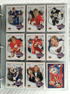 ★★★★★ BRETT HULL - 1991/92 UD HOCKEY HEROES 9 CARD SET ★★★★★