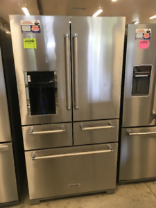 "NEW "" SCRATCH AND DENT "" KITCHEN AID FRIDGE"