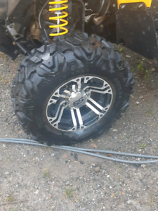 Canam 12 inch wheels an tires