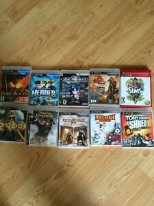 Assorted PS3 games $15 each