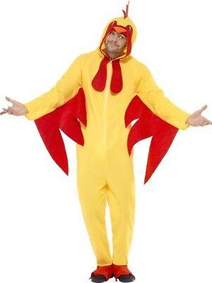 Erwachsene Huhn Kostüm Farm Vogel Unisex Alles in Eins Kostüm Outfit Groß
