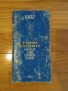 1982 Ford Escort EXP owners manual