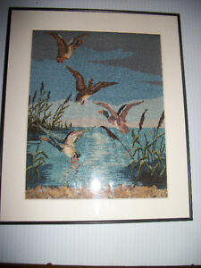 Petit Point Duck Picture
