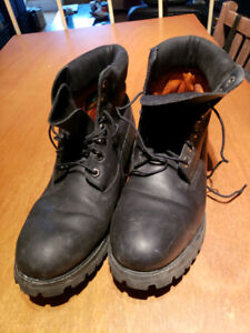 Bottes TIMBERLAND Cuir Noire Homme Taille 11