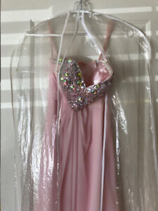 Beautiful strapless prom dress with corset for sale